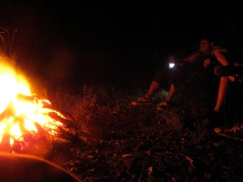 Enjoy a campfire at Sheoak Ridge Bushcamp.