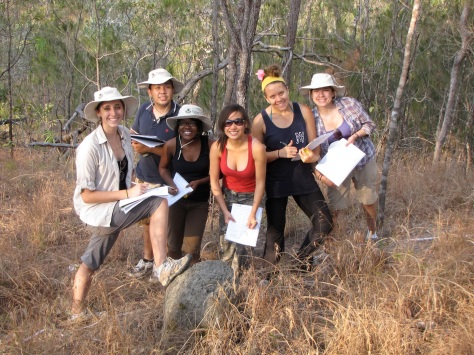 Students from Stanford Uni studying aspects of open woodland ecosystems