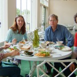 Breakfast with the BBC filming team. All filming was done at night (3.30pm-3.30am) and breakfast was usually at about 2pm each day.